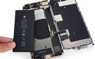 Как производится замена аккумулятора iphone 8