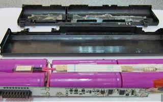 Самостоятельный ремонт аккумулятора для ноутбука