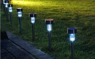 Дачные уличные светильники на солнечных батареях