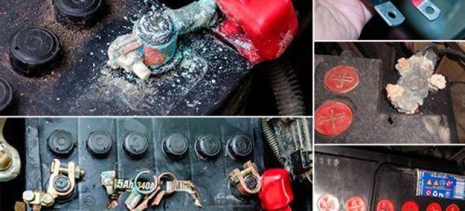 Почему окисляются клеммы аккумулятора и чем их смазать?