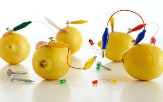 Как сделать батарейку из лимона, проводим эксперимент