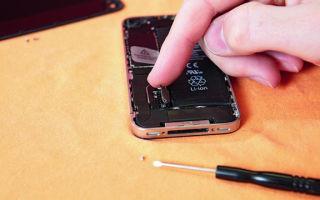 Замена аккумулятора iphone 4s своими руками